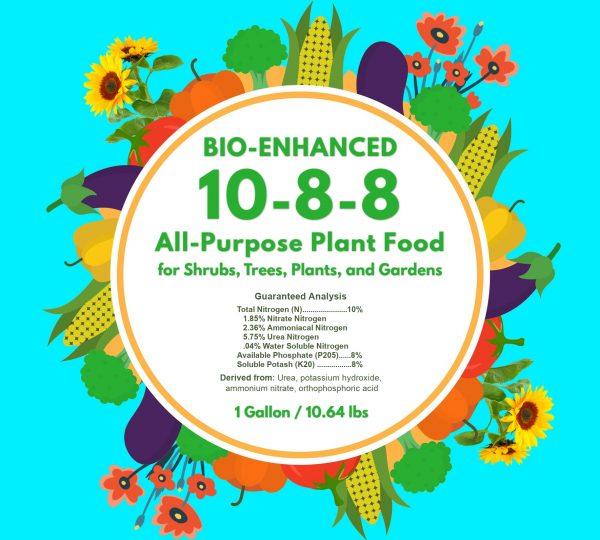 gallon label 10-8-8 all purpose plant food