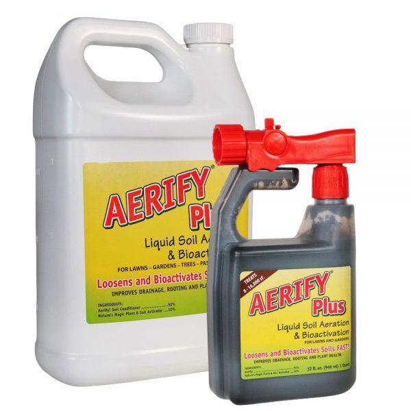 Nature's Lawn Aerify Plus liquid soil aerator soil loosener soil conditioner