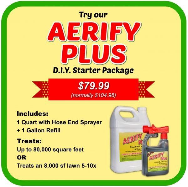 aerify plus DIY starter package liquid soil aerator and soil conditioner