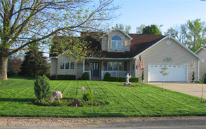 Front yard with LAWN FORCE 5