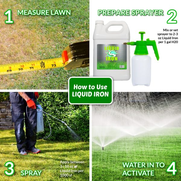 Nature's Lawn and Garden Liquid Iron how to use