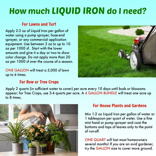 Nature's Lawn and Garden Liquid Iron how much do i need
