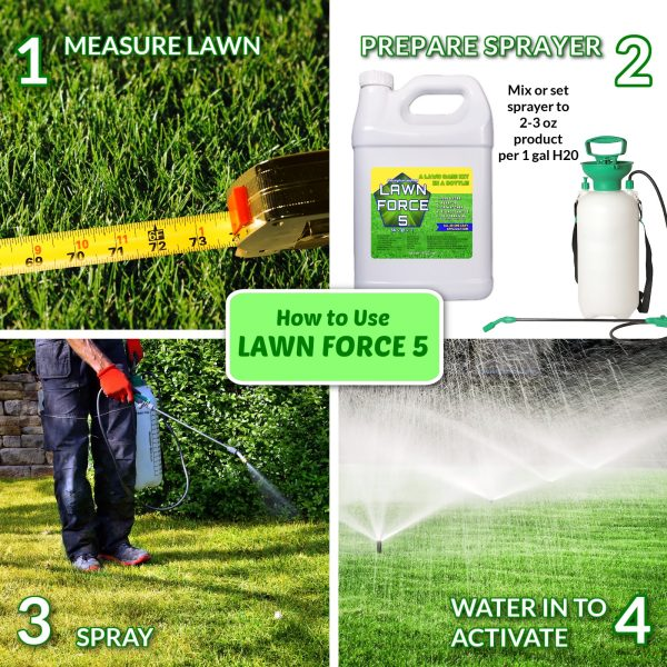 Nature's Lawn and Garden Phosphorus Free Lawn Force 5 how to use