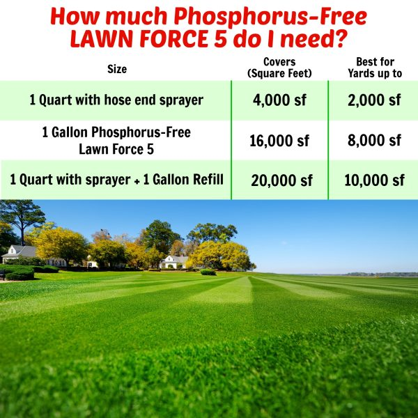 Nature's Lawn and Garden Phosphorus Free Lawn Force 5 how much do i need