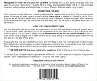 Phosphorus Free All-In-One Label