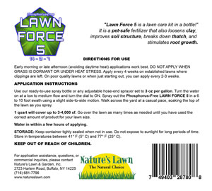 Phosphorus Free Lawn Force 5