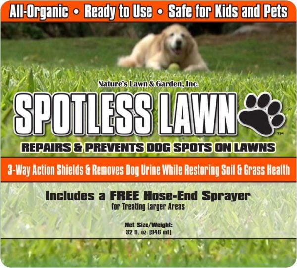 Spotless Lawn Dog Spot Aid label