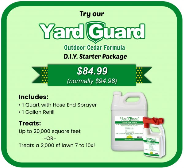 Yard guard starter kit natural outdoor insect control