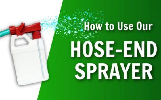 how to use a hose end sprayer