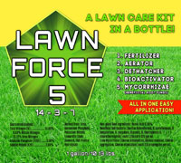 LAWN FORCE 5 Label