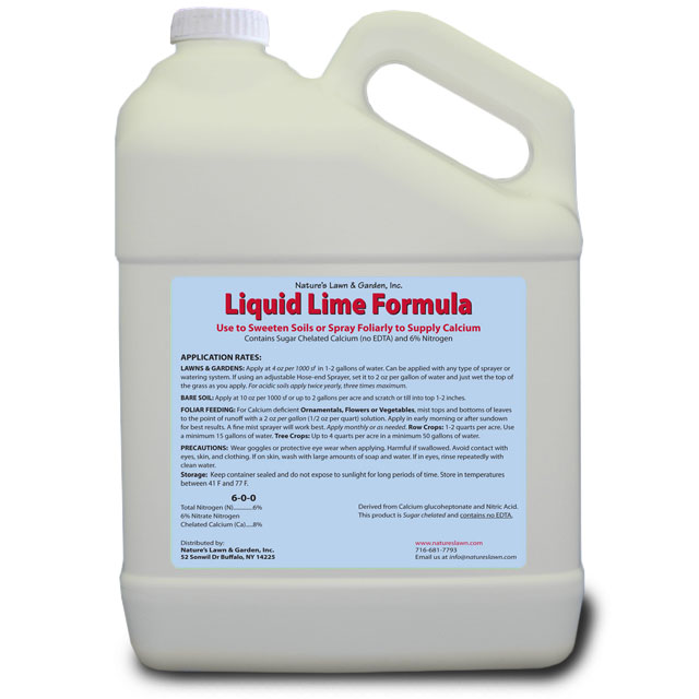 Liquid Lime For Lawn Natures Lawn And Garden