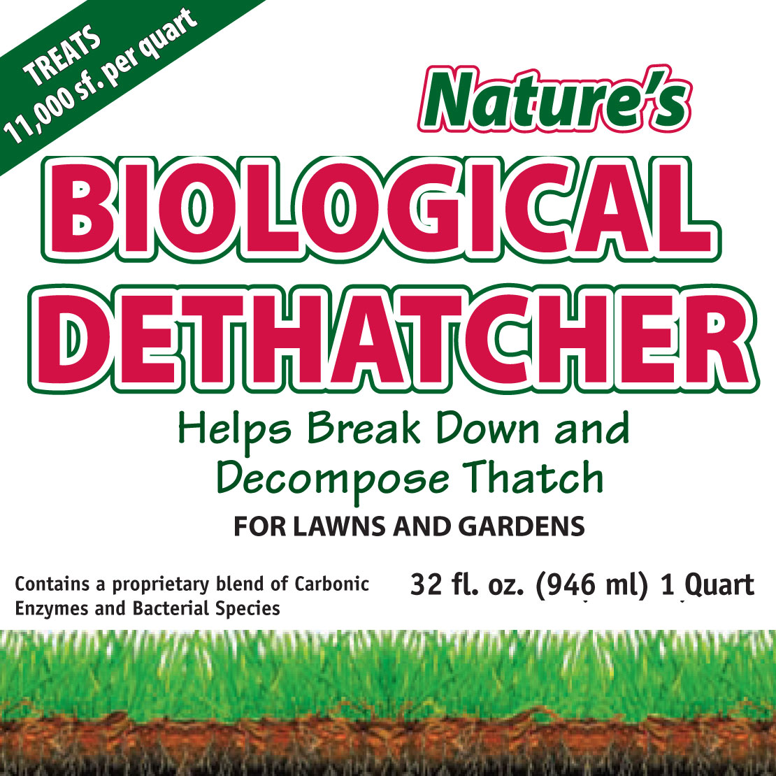 Nature S Biological Liquid Lawn Dethatcher Natures Lawn And Garden